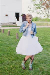 cool baby shower ideas wedding dresses with denim jackets for rustic look sang