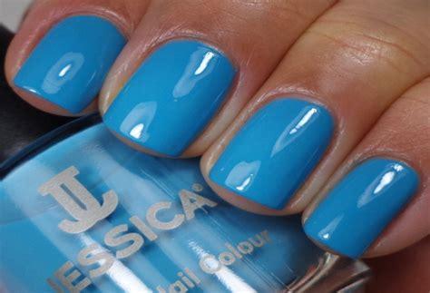 Blue Nail Polish On Black Skin