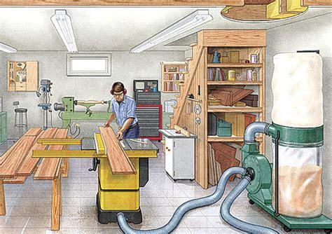 tips  basement workshops finewoodworking