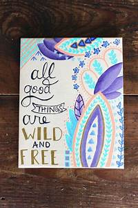 good things | D... Pretty Canvas Quotes
