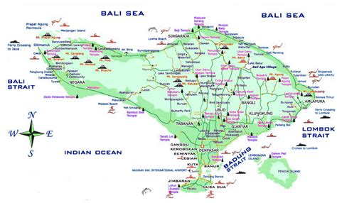 bali map indonesia  rigneys great adventure
