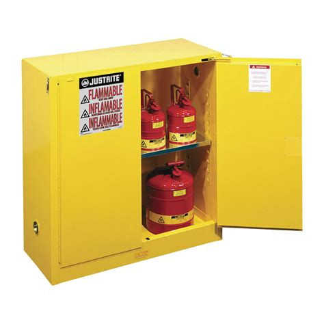 Justrite Flammable Cabinet Shelf by Justrite Safety Cabinet 30 Gallon Self Closing Door