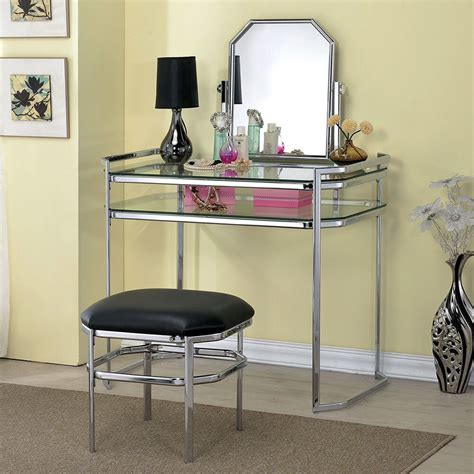 Glass Mirror Vanity Table by Colleen Beautiful Vanity Glass Table Shelves Mirror Pu