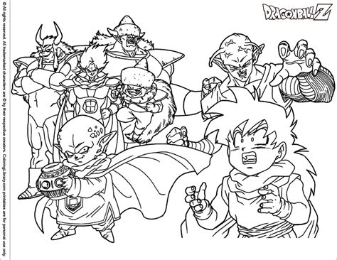 Free Printable Dragon Ball Z Coloring Pages - Sanfranciscolife