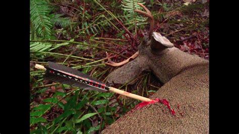 primitive archery hunting  deer otzi arrow ishi arrow