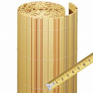 Sichtschutzzaun PVC Kunststoff Meterware Rgen Bambus
