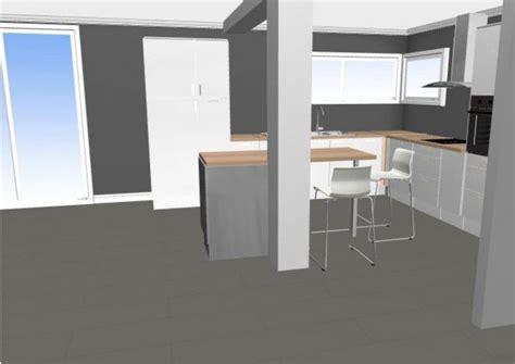 cuisine avec poteau au milieu cuisine en l plan de travail sur mesure ou pas 18