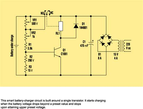 Build Smart Battery Charger Using Single Transistor