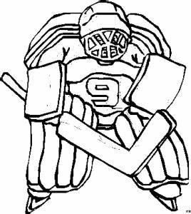 Eishockeytorwart Nummer 9 9 Ausmalbild Malvorlage Sport