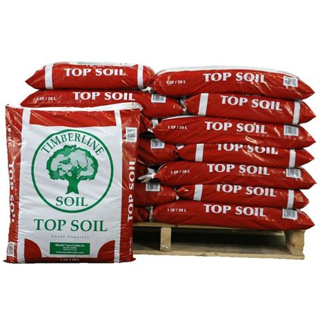 timberline 1 cu ft top soil half pallet of 35 bags