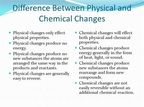 Difference Between Chemical Physical Changes Science Changes Around Us  11088559 Meritnationcom