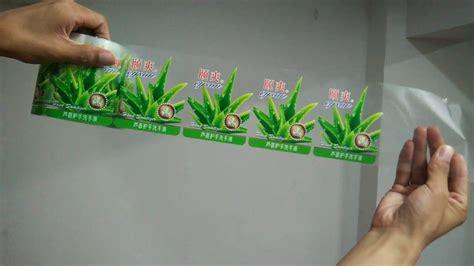 custom  adhesive transparent label sticker printing