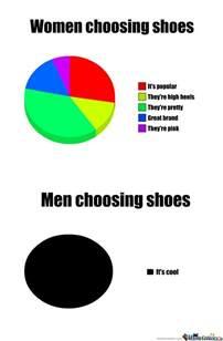 womens boots vs mens choosing shoes vs choosing shoes by l1ghtsaber meme center
