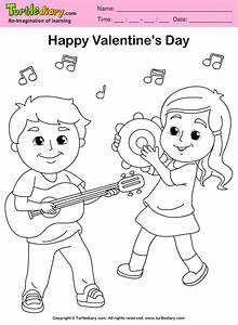 Friends Playing Music Coloring Sheet | Turtle Diary
