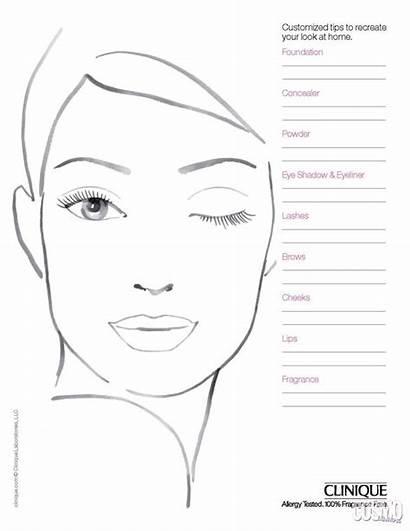 Makeup Face Charts Chart Template Maquillaje Artist