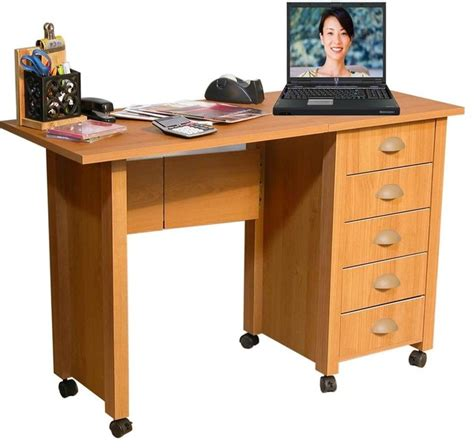 folding mobile desk craft table w 5 drawers contemporary desks and hutches by shopladder