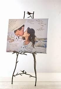 wedding ideas bridesmaid gifts wedding guest books With wedding photo canvas ideas