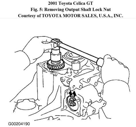 Toyota Celica Gts Transmission Parts Diagram