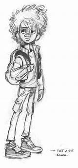Adam Bigfoot Son Harrison Sketch Drawing Comic Drawings Character Pages Junior Cartoon Sketches Disney Vos Dessins Dessous Ces Dans Sauvez sketch template