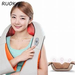 Cervical Back Neck Massager Shawl Electric Roller Heat