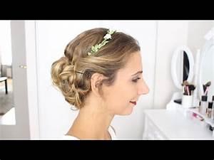 Couronne De Fleurs Mariée : chignon de mari e avec couronne de fleurs marion blush youtube ~ Farleysfitness.com Idées de Décoration