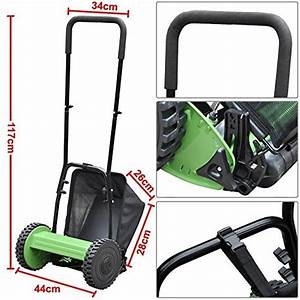 Outdoortips Hand Power Garden Lawn Push Reel Manual