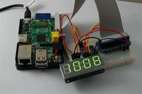 raspberry pi phone wifi digital sign notice board controlled by android phone led clock using raspberry pi piday raspberrypi