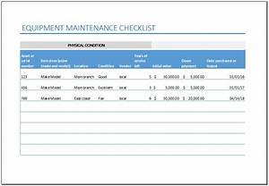 startup cash flow template equipment maintenance checklist template for excel excel