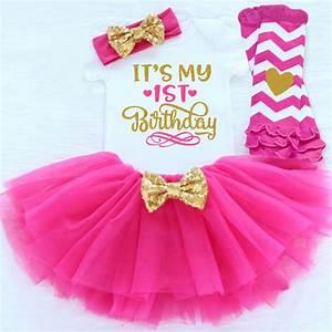 Newborn Baby Girls Clothes 1st Birthday Baby Bodysuit ...