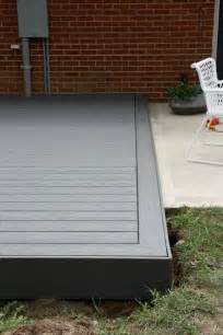 Wood Deck with Concrete Patio