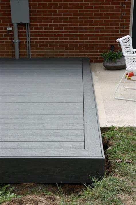 installing trex decking concrete house tweaking