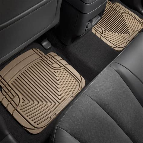 weathertech floor mats used weathertech 174 w50tn all weather 2nd row tan floor mats