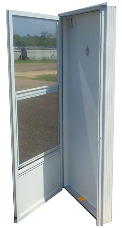 aluminum solid door  peephole rh  mobile home