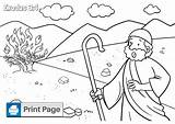 Bush Moses Burning Coloring Saw Pages Fire Burn Though Within Did sketch template