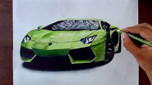 Drawing Cars 1 - Lamborghini Aventador - Prismacolor ...