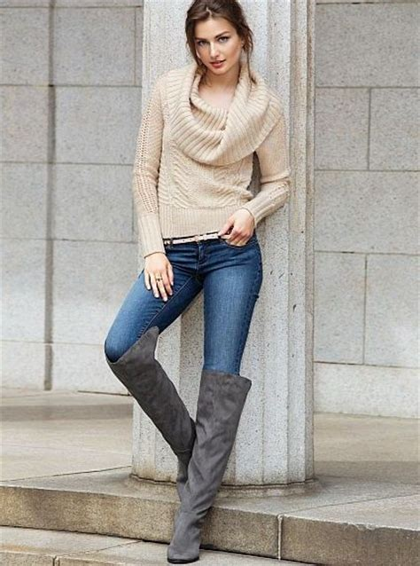 knee boots fashion lady footwear fav images