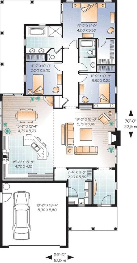 narrow lot florida ranch dr architectural designs house plans
