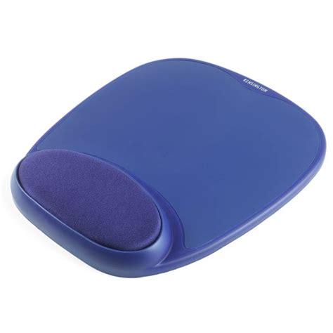 kensington tapis de souris avec repose poignet en mousse coloris bleu tapis de souris