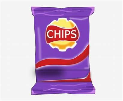 Chips Clipart Bag Packet Chip Clip Banner
