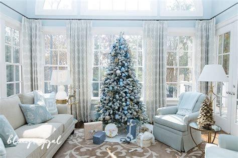 blue christmas decorating ideas     home