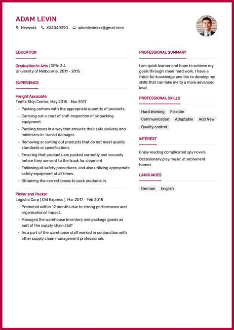 Picker Packer Resume Sle by Picker And Packer Resume Exle Duties