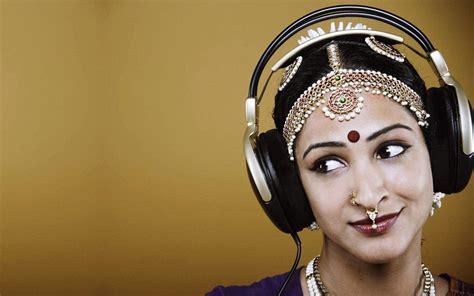 Home > music wallpapers > page 1. Indian Girl Listening Music Headphones HD desktop wallpaper : Widescreen : High Definition ...