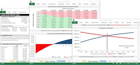 lease  buy analysis template leasematrix