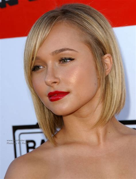 hayden panettiere with short hair hair cut with a steep