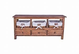 Meuble Bois Exotique : meuble tv 3 tiroirs en bois exotique pour salon koh deco ~ Premium-room.com Idées de Décoration