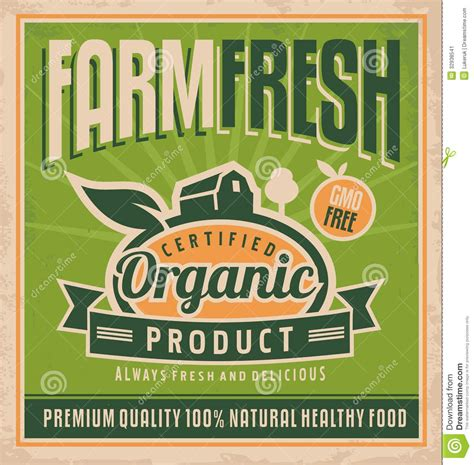 Retro Farm Fresh Food Concept Stock Image Image: 32938541