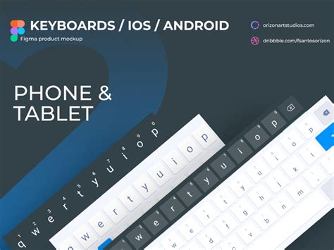 android ios keyboards  figma uistoredesign