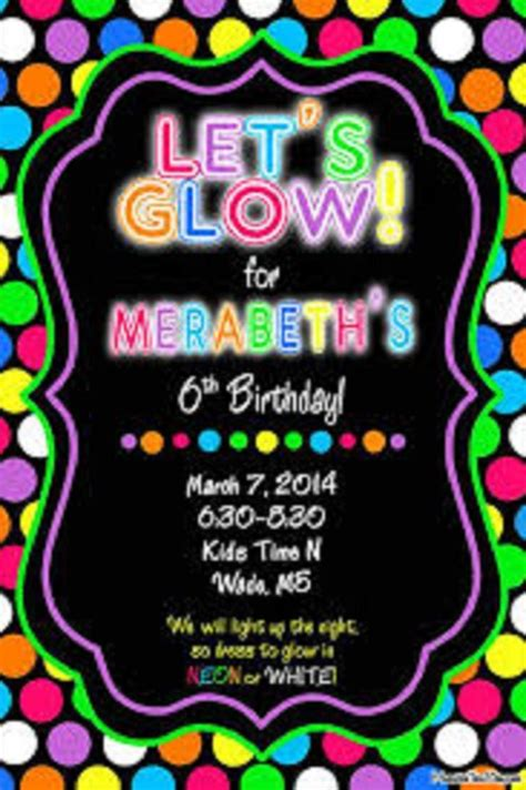 neon party invitations templates  mason birthday