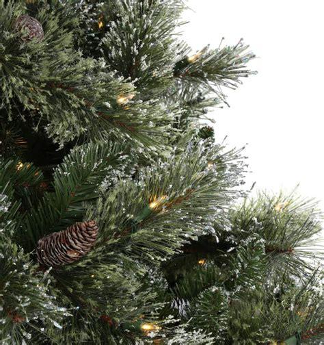 martha stewart faux christmas tree martha stewart living 7 5 ft pre lit led sparkling pine