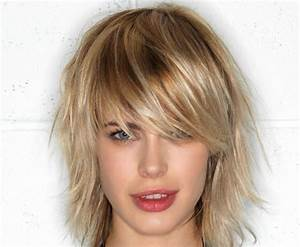 Coupes Mi Longues : coupe courte femme avec frange selon la forme du visage ~ Dode.kayakingforconservation.com Idées de Décoration